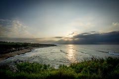 Plaże Maui Hawaje zmierzch Obrazy Stock