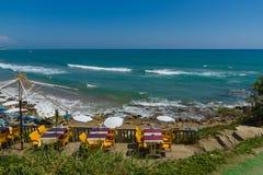 Plaże na linii brzegowej Obrazy Royalty Free