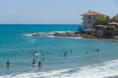 Plaże na linii brzegowej Obrazy Stock