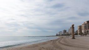 Plaża El Campello Obrazy Royalty Free