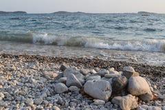 plaż fale Obraz Royalty Free