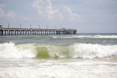 plaż fale Zdjęcia Royalty Free