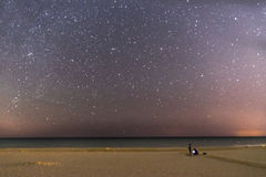 Plaża i gwiazdy Zdjęcia Stock