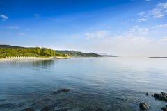 Plaża i linia brzegowa Agrustos w Sardinia Obrazy Stock