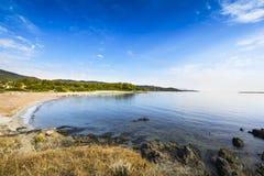 Plaża i linia brzegowa Agrustos w Sardinia Zdjęcie Royalty Free