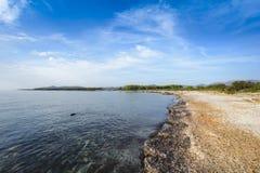 Plaża i linia brzegowa Agrustos w Sardinia Fotografia Stock