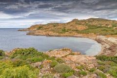 Plaża i linia brzegowa w Corsica Obraz Royalty Free