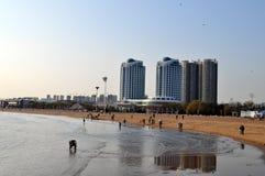 Plaża i miasto fotografia royalty free