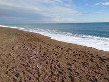 Plaża i morze Obraz Royalty Free