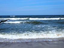 Pla?a i morze Pi?kny krajobraz zdjęcie stock