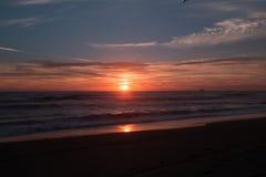 Plaża i zmierzchu niebo Obrazy Royalty Free