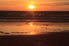 Plaża i zmierzchu niebo Fotografia Royalty Free