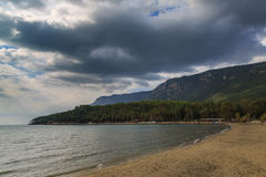Plaża inside Akyaka Obraz Royalty Free