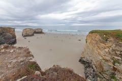 Plaża katedry Obrazy Royalty Free