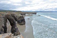 Plaża katedry Zdjęcia Stock