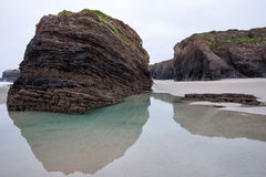 Plaża katedry w Ribadeo, Lugo, Galicia Fotografia Royalty Free