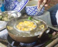 Pla Khanom Kai, десерт в Таиланде Стоковые Изображения RF