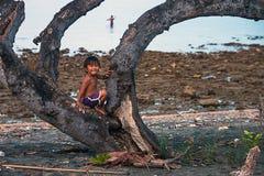 Plaża Krajowy zachodu park w Bali Zdjęcia Stock