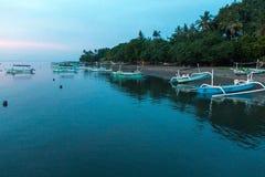 Plaża Krajowy zachodu park w Bali Obraz Stock