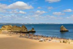 Plaża Lagos, Algarve, Portugalia Zdjęcie Stock