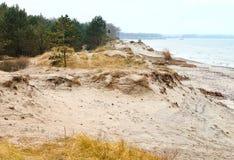 Plaża, morze, diuna, piasek, diuna, horyzont Zdjęcia Stock