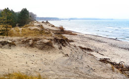 Plaża, morze, diuna, piasek, diuna, horyzont Fotografia Stock