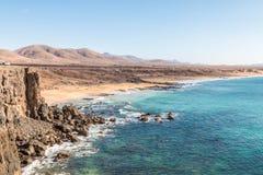 Plaża na Fuerteventura Zdjęcia Stock