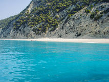 Plaża Na Ionian morzu Obrazy Royalty Free