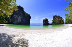 Plaża na Koh Hong, Hong wyspa w Phang Nga zatoce, Tajlandia Zdjęcia Royalty Free