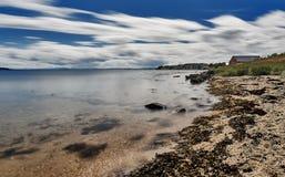 Plaża na Norweskiej wyspie Fotografia Stock