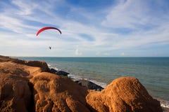 plaża nad target1823_0_ Zdjęcia Royalty Free