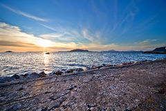 plaża nad zmierzchem Obraz Royalty Free