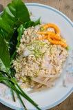 ` Pla Naem `是传统泰国开胃菜食物 库存图片