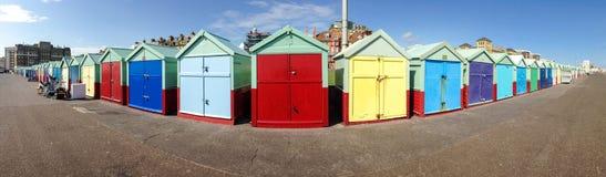 Plażowa budy panorama Zdjęcie Royalty Free