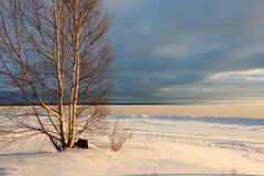 plażowa chmurna linii brzegowej pogody zima Zdjęcia Stock
