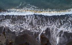 plażowa chmurna linii brzegowej pogody zima Obraz Royalty Free