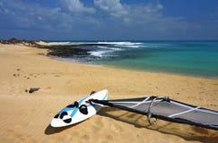 plażowa deskowa kipiel Fotografia Royalty Free