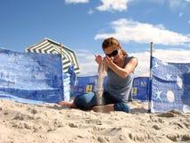 plażowa dziewczyna Zdjęcie Stock