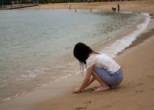 plażowa dziewczyna Obrazy Royalty Free