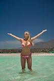 plażowa egzotyczna kobieta Fotografia Stock