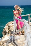 plażowa egzotyczna kobieta Zdjęcie Stock