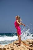 plażowa egzotyczna kobieta Zdjęcia Royalty Free