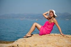 plażowa egzotyczna skórnicza kobieta Fotografia Royalty Free