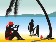 plażowa fotografia Ilustracji
