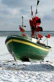 plażowa Gdynia owo zima Fotografia Stock
