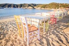 plażowa grecka tawerna Fotografia Stock