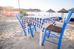 plażowa grecka tawerna Zdjęcie Royalty Free