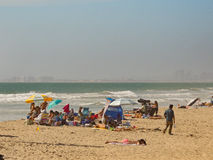 Plażowa grupa Fotografia Stock
