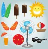 Plażowa ikona. Obrazy Royalty Free
