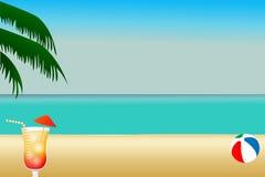 plażowa ilustracja Obraz Stock